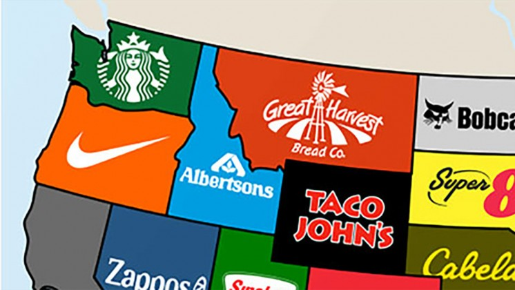 The most iconic brand from each state