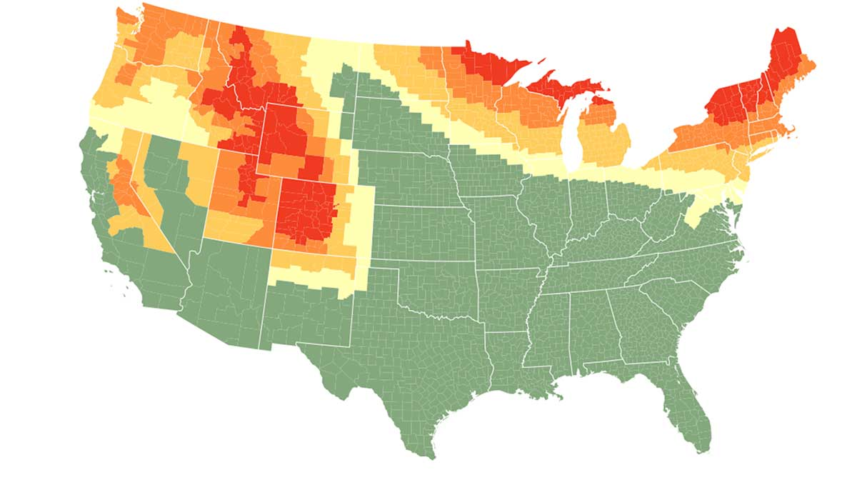 Fall Foliage Prediction Map 2020.This Interactive Fall Foliage Map Helps You Plan Your Leaf