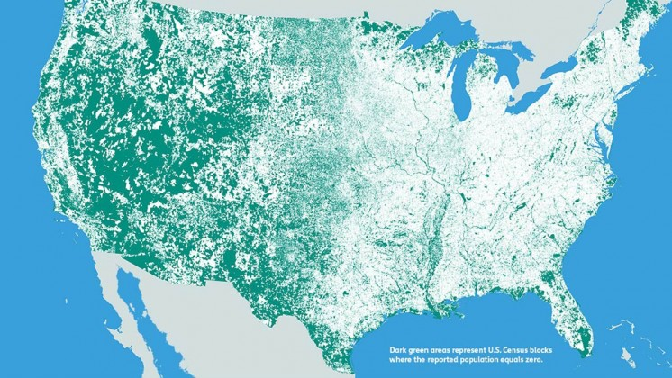 All the parts of the United States where nobody lives